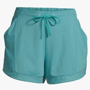 Avia Active Wear Shorts XXL (20) Teal Blue Pull-on